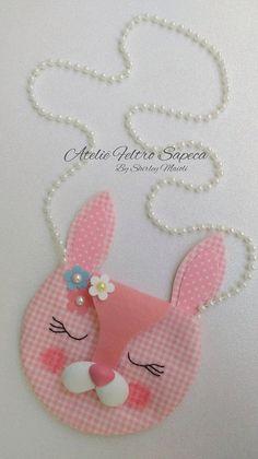 Eu Amo Artesanato: Bolsa de coelhinho com molde