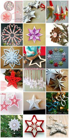 Plantillas navidad para hacer manualidades estrella bola - Manualidades de estrellas de navidad ...