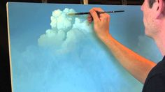 Painting Clouds with Tim Gagnon, A Time Lapse Speed Landscape Painting w...