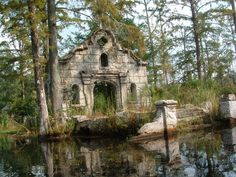ruins of a building in a cypress swamp. Facade of an old building in the cypress swamp in Cypress Gardens, South Carolina Abandoned Buildings, Abandoned Places, Oh The Places You'll Go, Places To Visit, Cypress Swamp, Cypress Hill, All Nature, Pics Art, Belle Photo