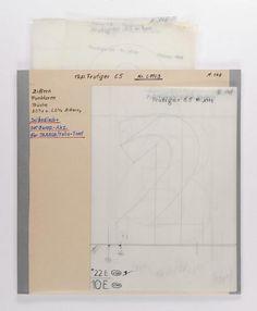 [Werkzeichnungen zur Frutiger]-Schrift / Typografie