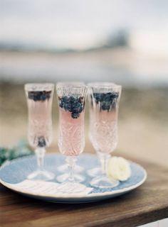 blueberries + prosecco