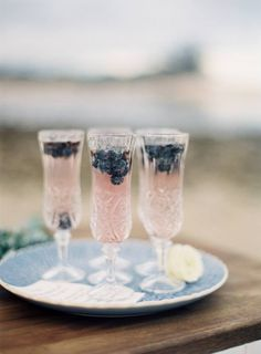blueberries + prosecco