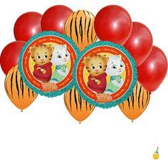 Mylar Latex Party Balloon Set - Daniel Tiger - 12 pc