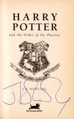 HARRY POTTER AND THE ORDER OF THE PHOENIX. J. K. ROWLING. 1ST EDITION SIGNED PRIMERA EDICIÓN FIRMADA - Foto 1