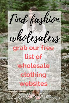 """You can make a full time income from home by selling clothing online but  where do you find wholesale clothing and accessories for your online  boutique? It can be difficult to find affordable clothing wholesalers  because many of the """"wholesalers"""" showing up in google search results are  selling the same items as other wholesaler clothing suppliers but a much  higher price.  CLICK HERE FOR OUR WHOLESALE CLOTHING WEBSITE LIST  Some wholesale clothing websites require you to send them a copy…"""