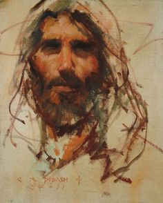 """C. Michael Dudash """"Christ"""". RG's comment: Jesus of Nazareth was a man's man. This portrait expresses an authentic manliness, as well as intelligence, integrity and purpose."""
