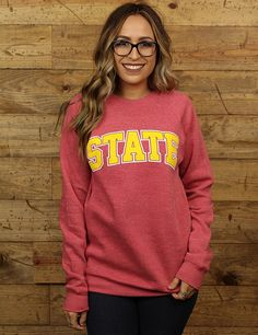 Be cozy and spirited in this Iowa State pullover GO CYCLONES
