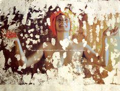 """Joy"" from Virtues series   FotoPainting on canvas 125x95 cm   Sarah Arensi&Ferdinando Cioffi 2013"
