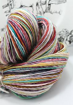 Handspun Yarn Gently Thick and Thin DK Single by SheepingBeauty, $38.00