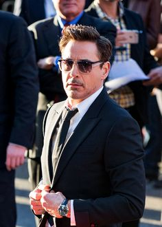 """Robert Downey Jr. at the world premiere of """"Captain America: Civil War"""" in Los Angeles, April 12, 2016."""