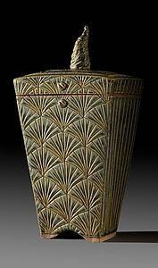 Ginkgo Box: Jim and Shirl Parmentier: Ceramic Box | Artful Home