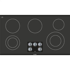 "NEM5666UC in Black Frameless by Bosch in Kahului, HI - 36"" Electric Cooktop 500 Series - Black Frameless"