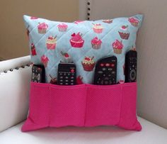 Pillow Remote Control Door Cupcake