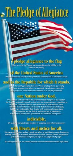 Our Flag Badge: The Pledge Of Allegiance