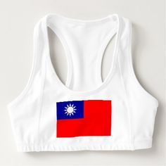 Women's Alo Sports Bra with flag of Taiwan - stylish gifts unique cool diy customize
