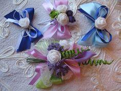Бутоньерки своими руками с цветами из фоамирана. Мастер класс в стиле канзаши. - YouTube