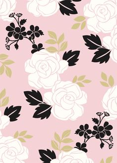 Woodcut Floral Love Pattern