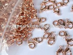 12mm Rose Gold Copper Lobster Claw Lobster Clasp Jewelry Findings Accessories Fittings Components $49.47