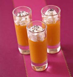 Photo de la recette : Cappuccino de carottes au cumin