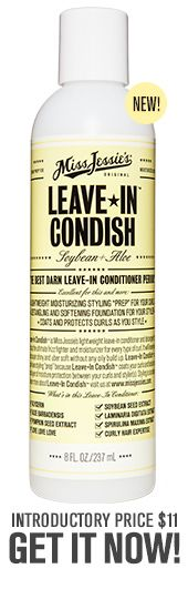 Leave-In Condish™ is Miss Jessie's lightweight leave-in conditioner and detangler that acts as the ultimate frizz fighter and moisturizer for every type of curl.