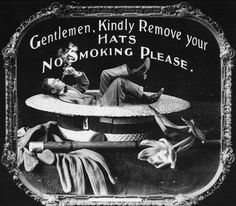 Etiquette warnings shown before silent movies, 1910s
