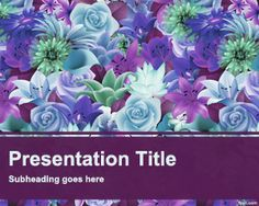 Flower Garden PowerPoint template is another free template with flowers in the…