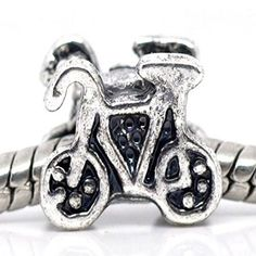 Bicycle/Bike European Bead Compatible for Most European Snake Chain Charm Bracelet