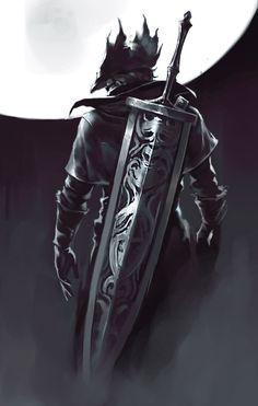 bloodborne art,so awesome Sif Dark Souls, Arte Dark Souls, Arte Viking, Soul Saga, Bloodborne Art, Bloodborne Concept Art, Blood Hunter, Character Art, Character Design
