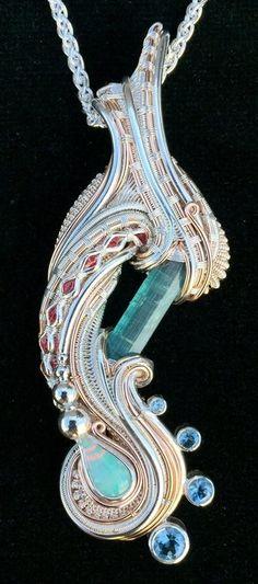 ©Dylan Clevenger #wirewrap #jewelry #wirewrapjewelry