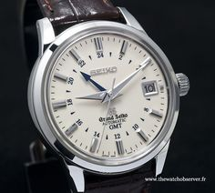 Grand Seiko Automatic GMT by Thomas Gisclard on Dream Watches, Cool Watches, Watches For Men, Watch Master, Seiko Automatic, Watch Companies, Seiko Watches, Omega Watch, Quartz