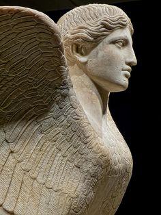 Profile of Sphinx probably a table support Roman 120-140 CE from Monte Cagnolo outside Lanuvium near Rome Italy   Flickr - Photo Sharing!