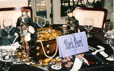 Pirates Of The Carribean Theme Bat Mitzvah centerpiece  The Event Of A Lifetime, Inc.