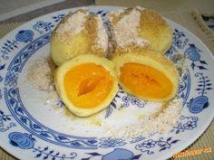 meruńkové knedlíky z pařeného těsta