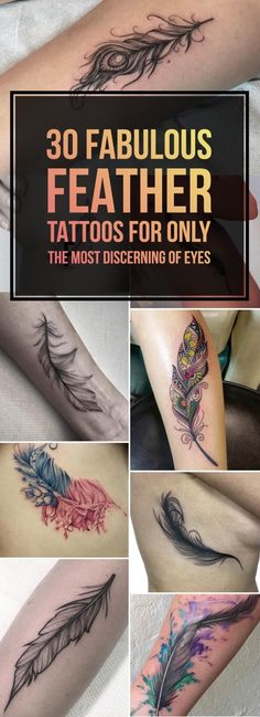30 Fabulous Feather Tattoos #Musely #Tip