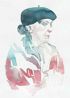 Louise Bourgeios portrait by Samantha Hahn