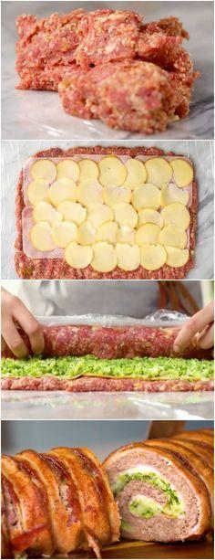 Rocambole de Carne com Brócolis e Provolone ( VERSAO RAPIDA ) 20 MINUTOS #ROCAMBOLEDECARNE #carnebovina