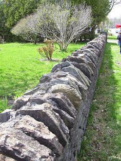 Trinity Anglican Church - rock fence