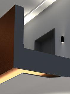 Balustrade @ Foyer CA Immo Berlin Bathroom Lighting, Ash, Berlin, Mirror, Studio, Detail, Projects, Furniture, Home Decor