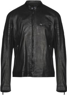 Casual Jackets, John Varvatos, Round Collar, Single Breasted, Leather Jacket, Textiles, Colour, Animal, Zip