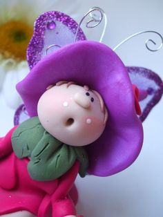 Polymer clay fairy made in by DesignByGarrity