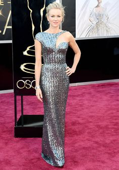Naomi Watts, The Impossible Best Actress in a Leading Role nominee shimmered in an Armani Prive down, Neil Lane jewels and Jimmy Choo sandals.