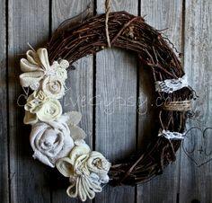 Rustic Burlap Shabby Me Ivory 3. Antique//Wedding//Shabby---Me