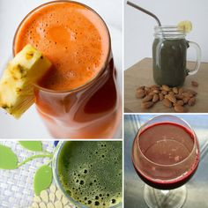10 veggie and fruit smoothie and juice recipes...sound great and we are needing to change up the smoothie rut