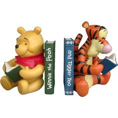 book ends character - Pooh and Tigger