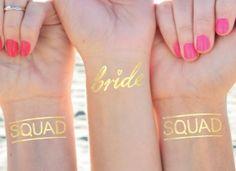 Bachelorette Tattoo | Bachelorette party | Set of 12 | Bride Squad | Gold Bride Tattoo | Fun Bachelorette favors | Party favor | Squad goals