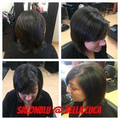 Hair by owner April Marie at SalonBlu @ Bella Luca Salon! 440-449-4848 #Trendycut #Pretty #BellaBlu4Hair #BellaBluBeauty