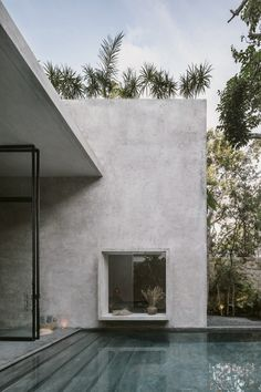 Aviv House in Tulum, Mexico by CO-LAB Design Office | Yellowtrace Tulum Mexico, Deco Design, Design Moderne, Design Art, Home Interior, Interior And Exterior, Exterior Houses, Terrazzo Flooring, Concrete Structure