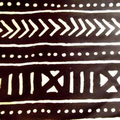 mud cloth for tattoo with square waventop lines then perpendicular middle triange bottom...dot line motif on border with black line finishing.