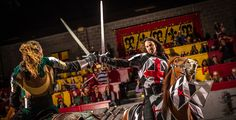 Spectacular dinner theater at Medieval Times Los Angeles. Medieval Spain bursts into color & action with horses, knights, swordplay, falconry and jousting.